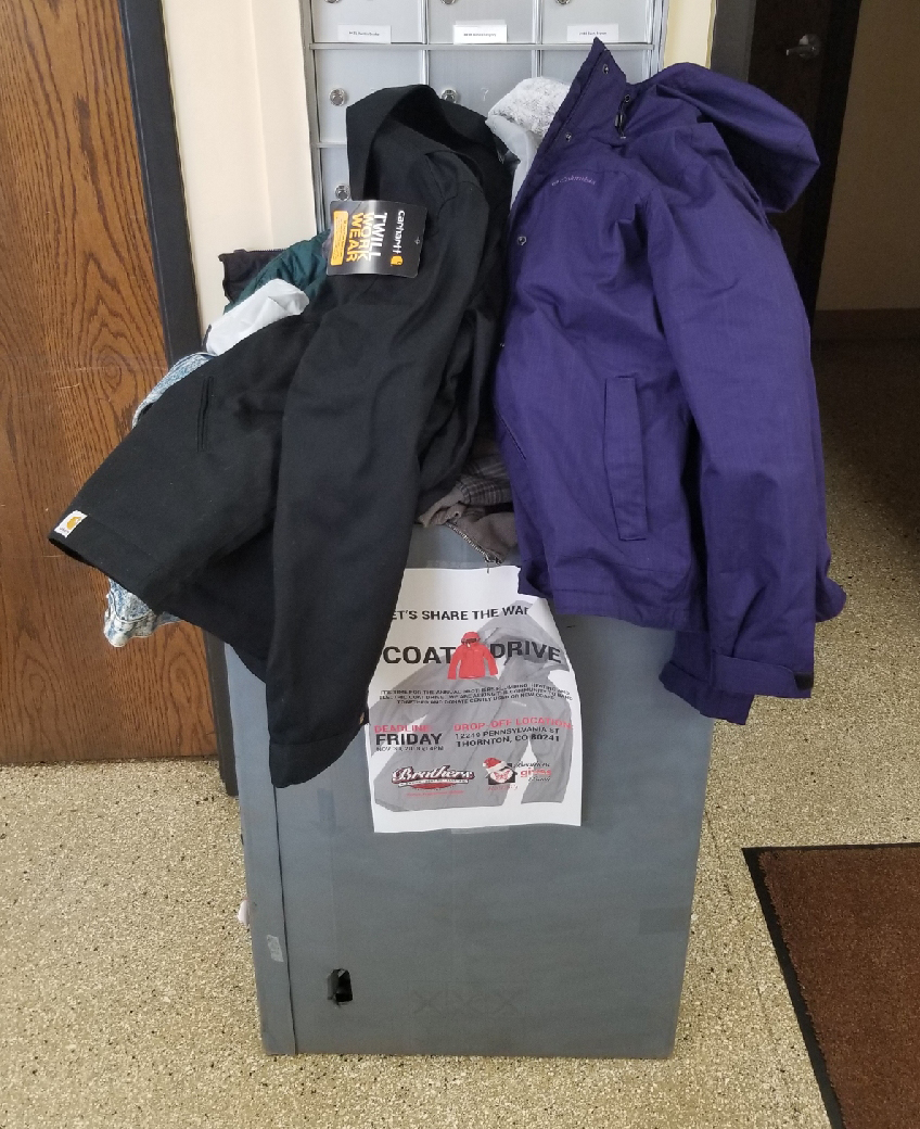 Brothers Gives Back: Coats for Colorado