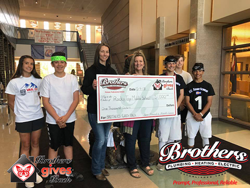 Brothers Gives Back to Rocky Top Middle School