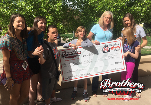 Brothers gives back to the Joshua School